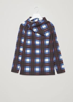 Очень красивая хлопковая блуза с драпировкой воротнике