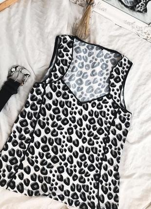 Брендовая майка блузка в животный леопардовий принт
