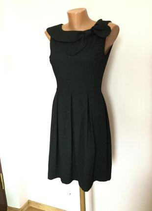 Чёрное базовое тёплое платье-футляр./s/brend orsay