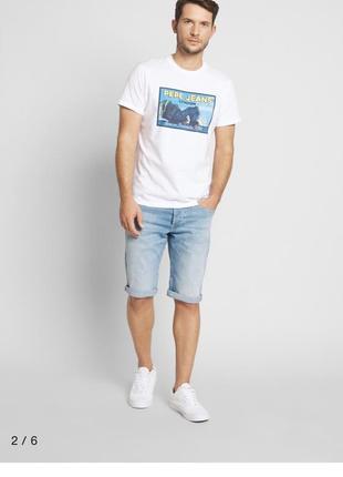 Джинсовые шорты бриджи pepe jeans