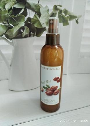 Мист для волос с аргановым маслом nature republic argan essential moist hair mist