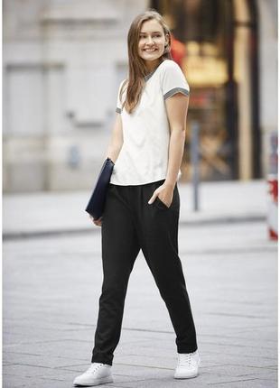 Трикотажные штаны джогеры с подворотом внизу esmara s европейское качество