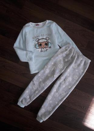 Махровая пижама с lol на 7-8 лет