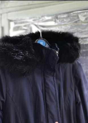 Парка зимняя тёплая куртка курточка пуховик с капюшоном меховая