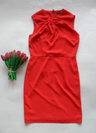 Оочень красивое платье marks& spenser кораллового цвета в размере 10-м