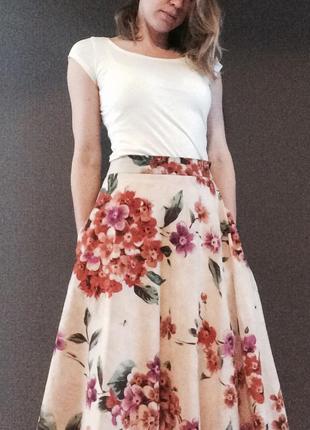 Юбка с цветами