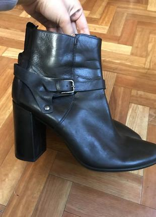 Ботильоны  кожаные ботинки