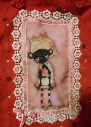 Эко сумка с #принтом маленькая принцесса,  #лен