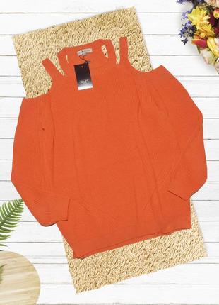 Новый яркий оранжевый свитер f&f