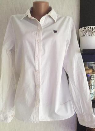 Белая рубашка с рукавом biosthetique