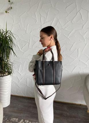 Женская сумка черная и хаки magicbag из эко-кожи