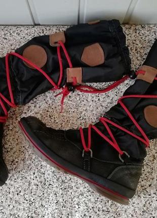 Ботинки кожаные фирмы tommy hilfiger