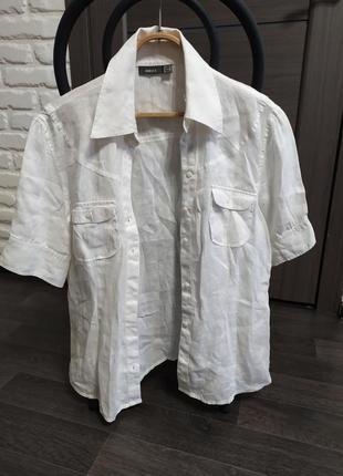 100%лен рубашка от mexx