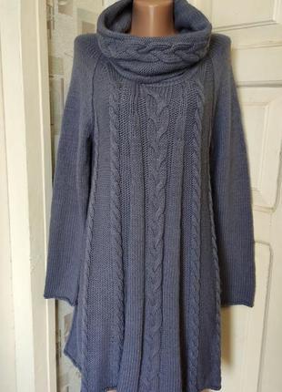 Вязаное платье туника marks & spencer