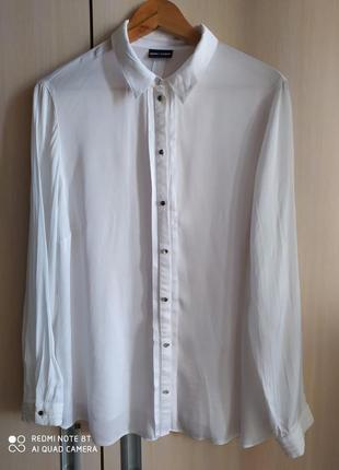 Базовая атласная белая рубашка от gerry weber