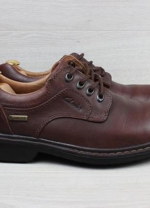 Мужские кожаные туфли clarks оригинал, размер 42 (мембрана gore-tex)