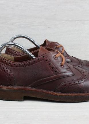 Кожаные туфли броги clarks оригинал, размер 39 - 40