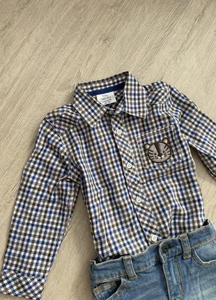 Рубашка в клетку 80-86