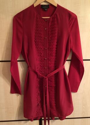 Красное платье с комбинацией ted baker