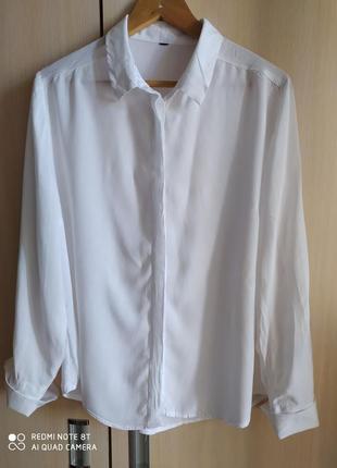 Белая базовая рубашка