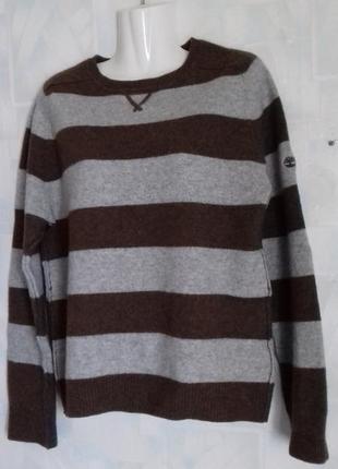 Шерстяной свитер джемпер полувер timberland