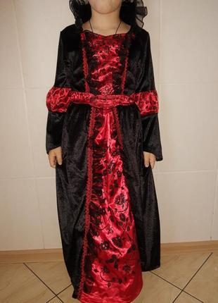 Карнавальный костюм платье королева на хэллоуин/ новый год