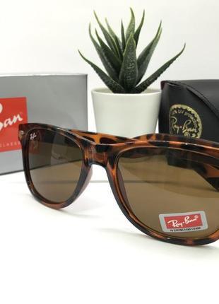 Солнцезащитные очки rayban rb2140 леопардовая оправа