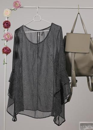 Повітряна прозора блуза в горох за спокусливою ціною до 31.10