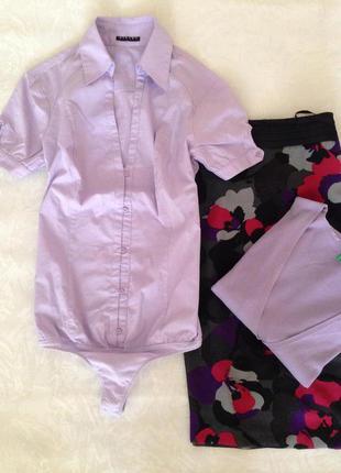 Легкая хлопковая рубашка - боди и много моих вещей дешево!!!!