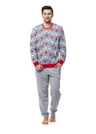 Пижама мужская утепленная с серии family look. ellen 025/001