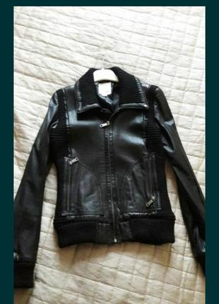 Натуральная кожаная куртка diesel оригинал м р.