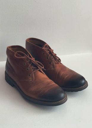 Ботинки из натуральной кожи clarks