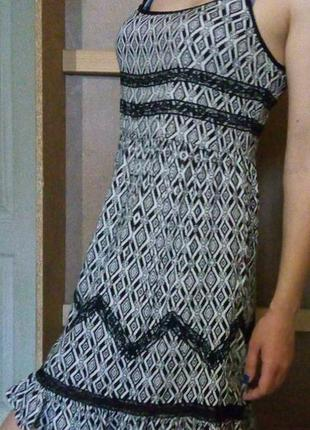 Чорно-білий сарафан / сукня / сарафанчик next