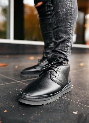 "Мужские ботинки ugg neumel ""leather black"""