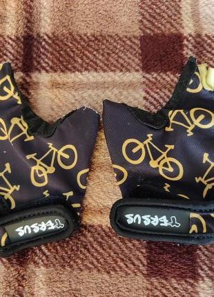 Велосипедные детские перчатки tersus kids bike р. xs до 6 лет