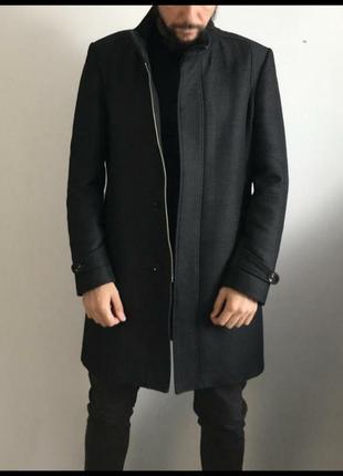 Пальто плащ тренч мужской zara man