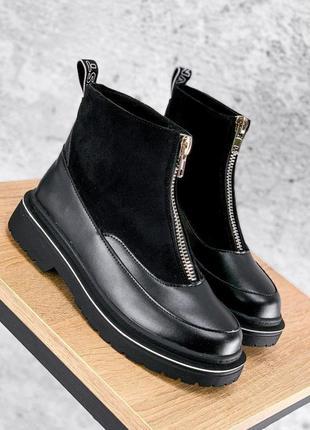 Ботинки женские mair черные деми