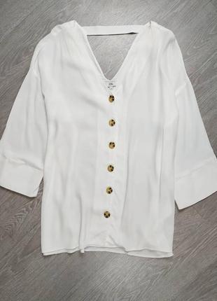 Белая блуза с вискозы