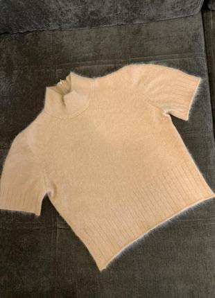 Кашемировый кроп топ.ангоровая футболка.кофта,свитер