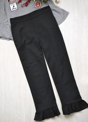 Стильні вкорочені брюки з рюшами zara