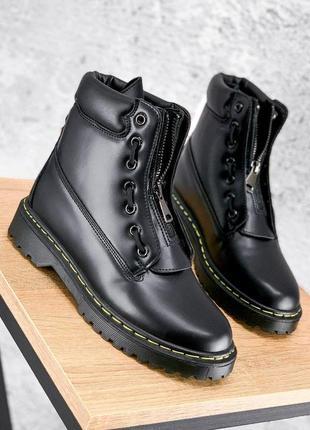 Ботинки женские balm черные деми