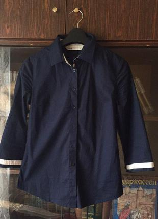 Хлопковая брендовая рубашка oodji