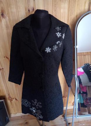 Жаккардовое пальто