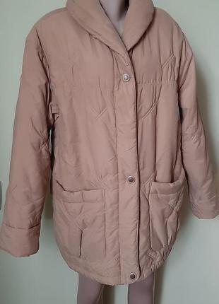 Куртка дутик зефирка на замке ,пальто теплое