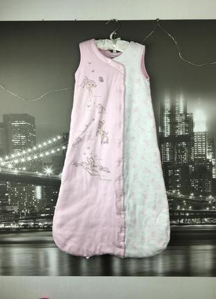 Нежно-розовый спальник на 6-12 мес