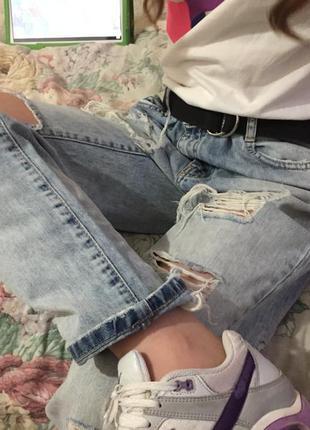 Рваные джинсы бойфренд zara летние