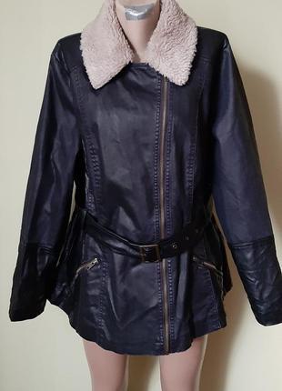 Косуха куртка на весну осень джинсовка еко кожа