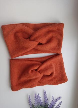 Теплая повязочка на голову для малышей ог 42-44