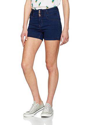 Джинсовые брендовые шорты с высокой талией. длина