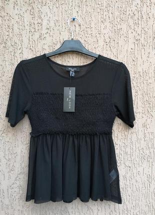 Новая блуза топ сетка new look